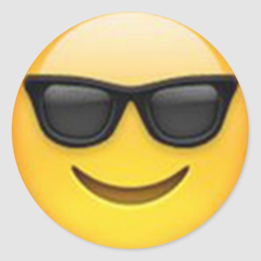 Sticker you print code - Sunglasses Emoji Sticker Zazzle