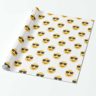 sunglasses emoji wrapping paper