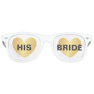 Sunglasses - Heart Fab Hise Bride Golden White