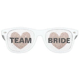 Sunglasses - Heart Fab Team Bride Rose Gold