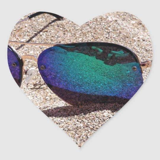 Sunglasses Heart Sticker