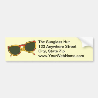 Sunglasses in yellow and red Bumper Stickers