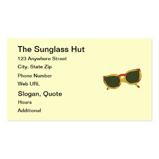 Sunglasses in yellow and red Business Cards