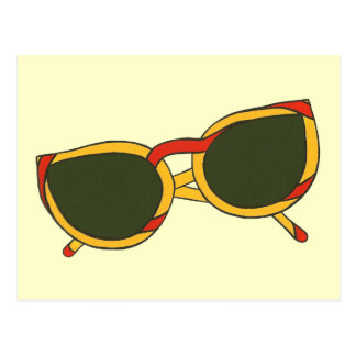 Sunglasses in yellow and red Postcards