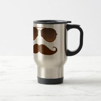 Sunglasses Mustache 15 Oz Stainless Steel Travel Mug