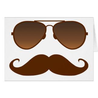 Sunglasses Mustache Card
