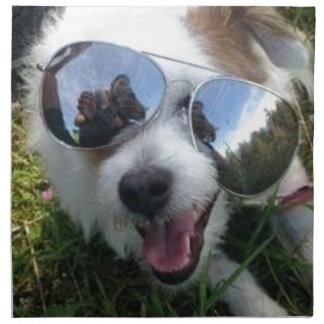 Sunglasses on dog BRIGHT FUTURE for ME Napkin