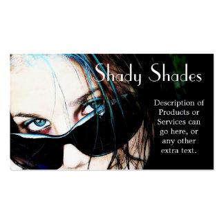 Sunglasses on Teenage Girl Business Card Templates