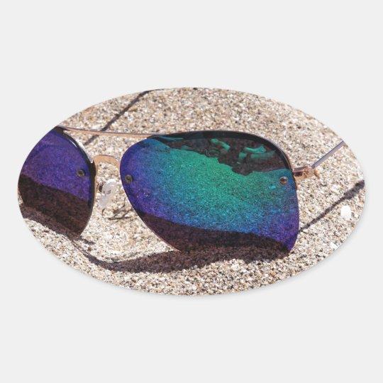 Sunglasses Oval Sticker