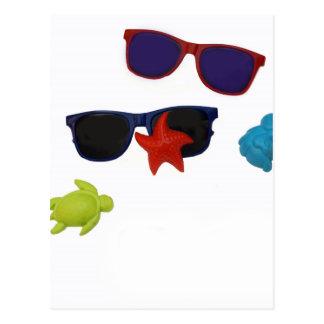 sunglasses postcard