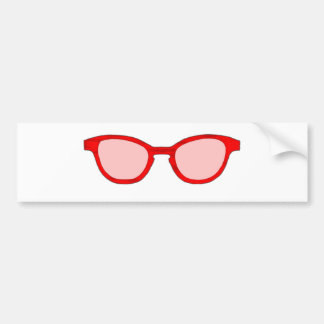 Sunglasses Red Rim Pink Lens The MUSEUM Zazzle Gif Bumper Stickers