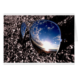 Sunglasses Relection Card