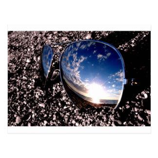 Sunglasses Relection Postcard