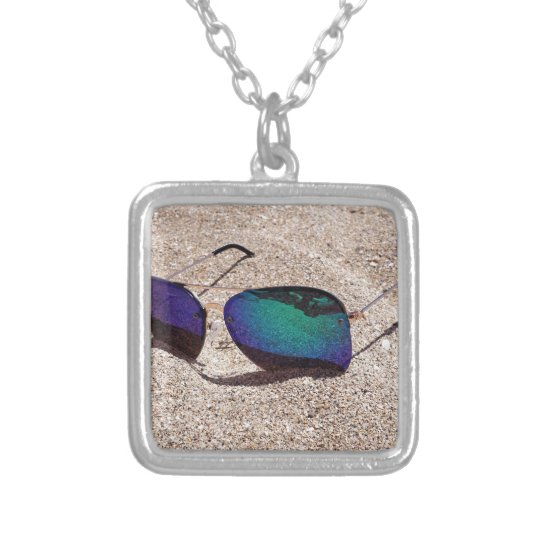 Sunglasses Silver Plated Necklace