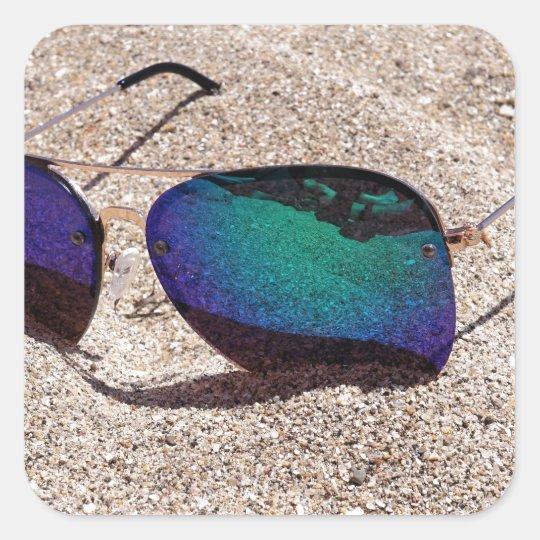 Sunglasses Square Sticker