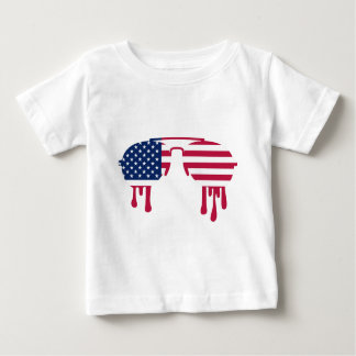 Sunglasses USA melting Tee Shirt