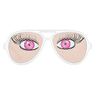Sunglasses With Fake Pink Eyes