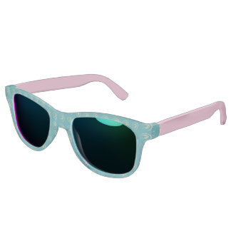 Sunglasses with golden yellow twirl
