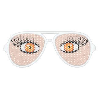 Sunglasses With Orange Eyes