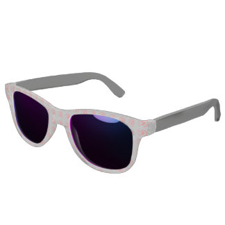 Sunglasses with red twirl