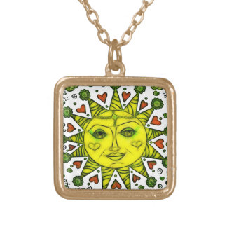 Sunhine 2a gold plated necklace
