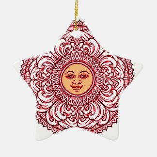 Sunhine 3 ceramic star ornament