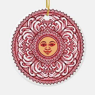Sunhine 3 round ceramic ornament