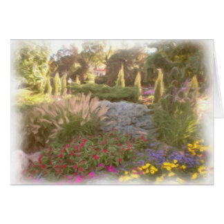 Sunken Garden Painting Card