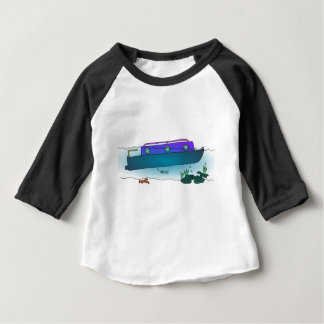 Sunken Narrowboat Baby T-Shirt