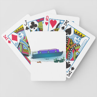 Sunken Narrowboat Bicycle Playing Cards