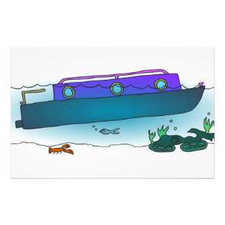 Sunken Narrowboat Personalized Stationery