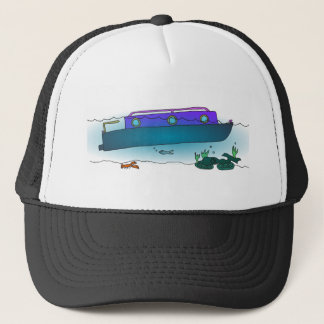 Sunken Narrowboat Trucker Hat