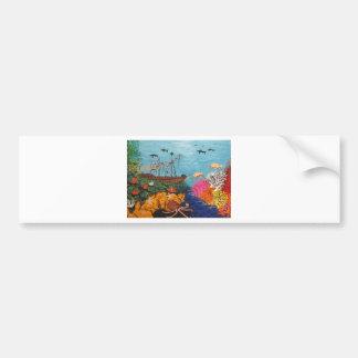 Sunken Treasure Ship Bumper Sticker