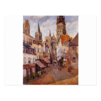 Sunlight, Afternoon, La Rue de l'Epicerie, Rouen Postcard