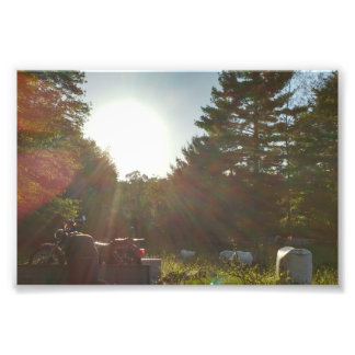 Sunlight and a Motorcycle Art Photo
