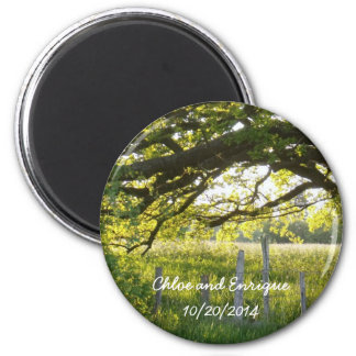 Sunlight And Trees Personalized Wedding Magnet