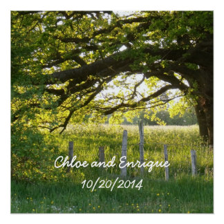 Sunlight And Trees Personalized Wedding Perfect Poster