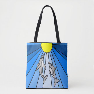 Sunlight Dolphins Tote Bag