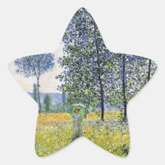 Sunlight Effect under the Poplars Claude Monet Star Stickers