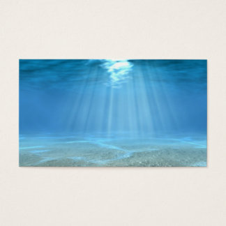 Sunlight In Ocean Business Card