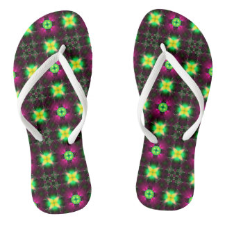 Sunlight in the Magnolia Grove Fractal Flip-Flops Flip Flops