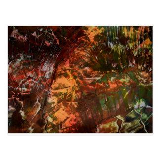 Sunlight on cavern walls postcard
