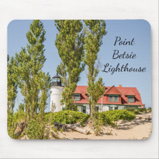 Sunlight on Point Betsie Lighthouse Mouse Pad