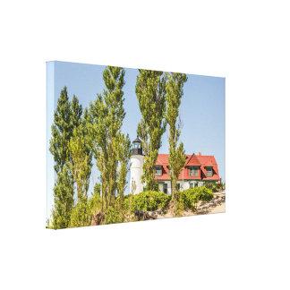 Sunlight on Point Betsie Lighthouse near Frankfort Canvas Print