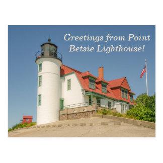 Sunlight on Point Betsie Lighthouse Postcard