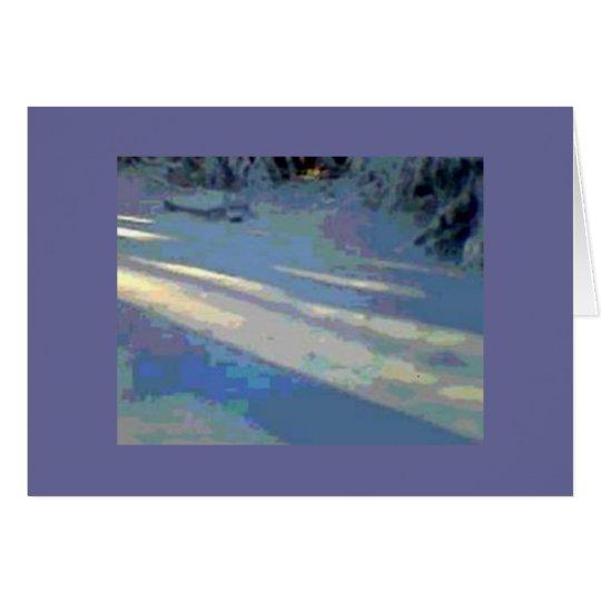 Sunlight on Snow Winter Holiday Card