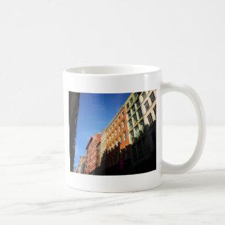 Sunlight On Soho Buildings, NYC Basic White Mug