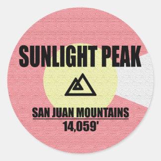 Sunlight Peak Classic Round Sticker