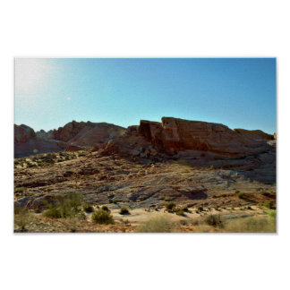 Sunlight Rock Formations Valley of Fire Poster