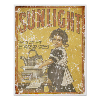 Sunlight Soap - 1873- distressed Poster